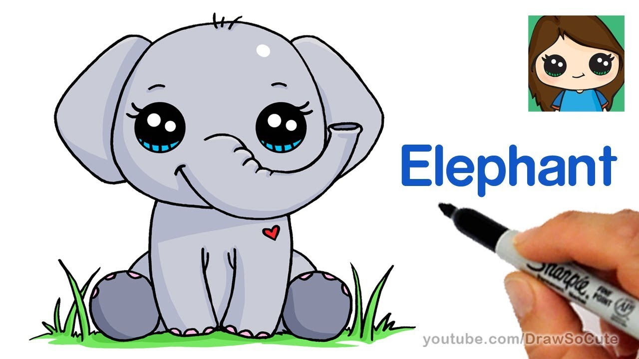 How To Draw An Elephant Easy Youtube