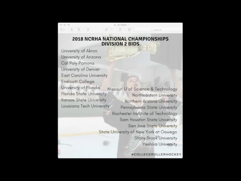 NCRHA C2C Presents: 2018 College Roller Hockey Selection Monday Stream #C2CLive