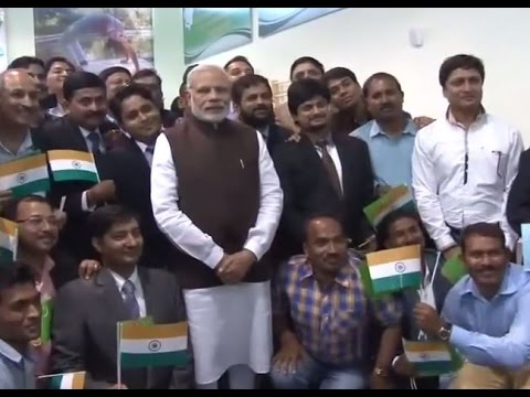 Pm Modi Interacts With People In Ashgabat Turkmenistan Youtube