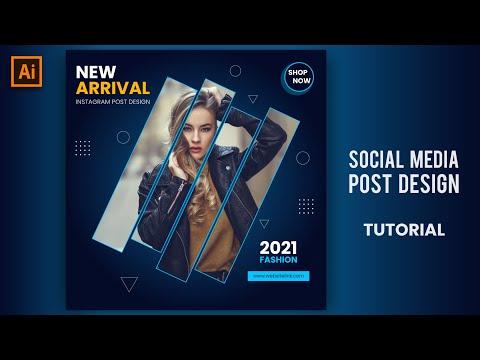 Social Media Post Design | Illustrator Tutorial | Beauty Banner Design | MAK Visuals