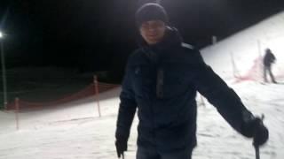 Зима 2017 ,Коробчицы, г. Гродно. Катаемся на лыжах!