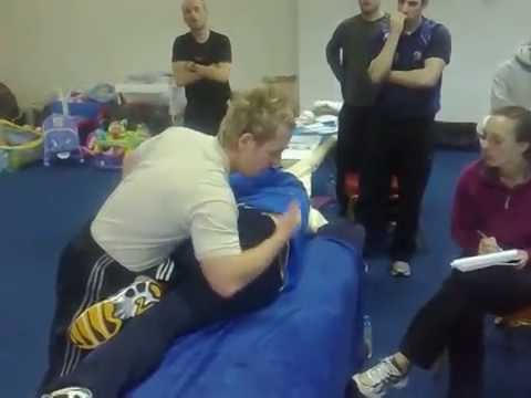 How to use a muscle energy technique (MET) to correct a SIJ dysfunction - anterior inominate