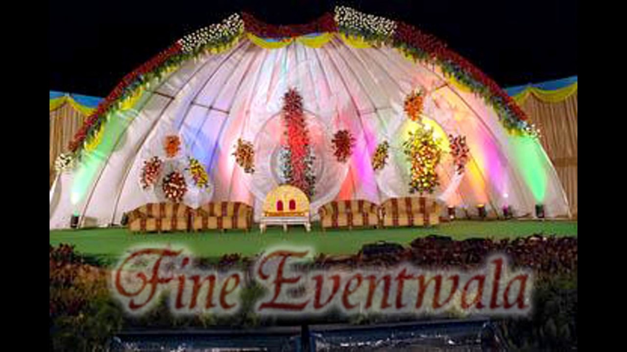 indian wedding stage decoration with flowers wedding decorators - Wedding Decorators