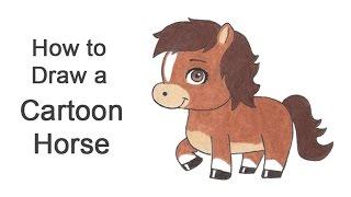 How to Draw a Horse / Pony (Cartoon)