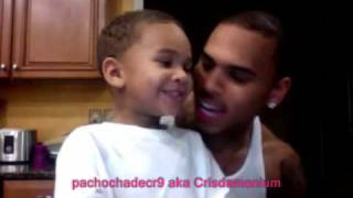 CHRIS BROWN & LIL DREW SING SOULJABOY-SO CUTE!