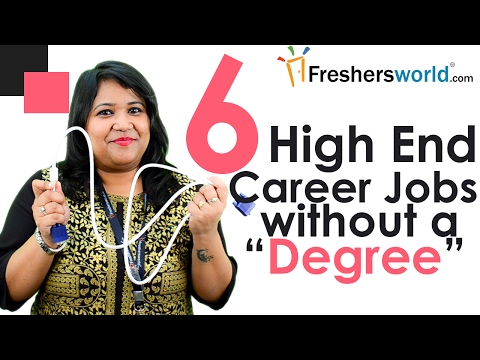 Top High End Career jobs without a degree – Diploma jobs, Associate degree jobs, Technician jobs