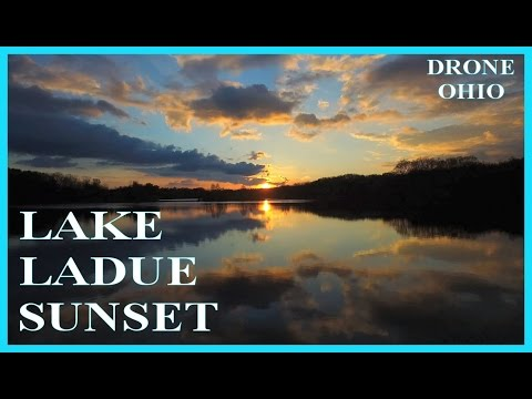 Lake Ladue Sunset & Kayaks - Drone Ohio
