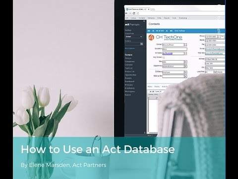 How to Use an Act Database 2016