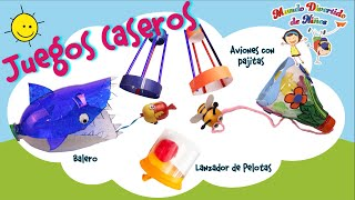 Manualidades para Niños | Juguetes caseros con materiales reciclables | Video Educativo