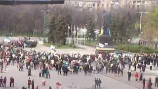 Demontarea monumentului lui Lenin #Kramatorsk, Ucraina