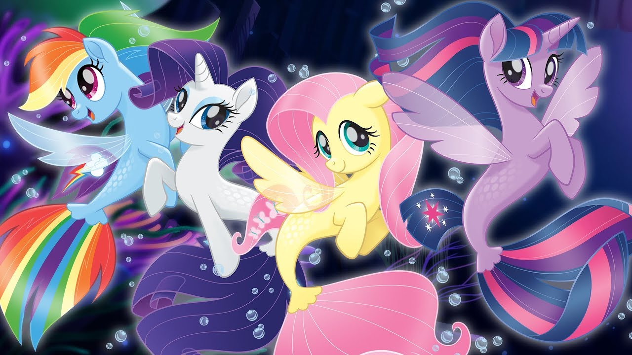 Friendship Wallpapers Of Boy And Girl Seaponies Ponies Mermaids From Quot My Little Pony The