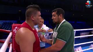 +91kg Luis CALDERON (ARG) vs Alexei ZAVATIN (MDA) - 16vos de Final - Mundial AIBA Hamburgo 2017