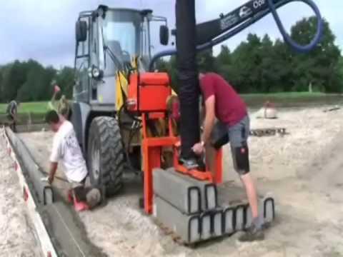 Masini cu vacuum pentru montat pavaje, borduri, dale beton, etc.