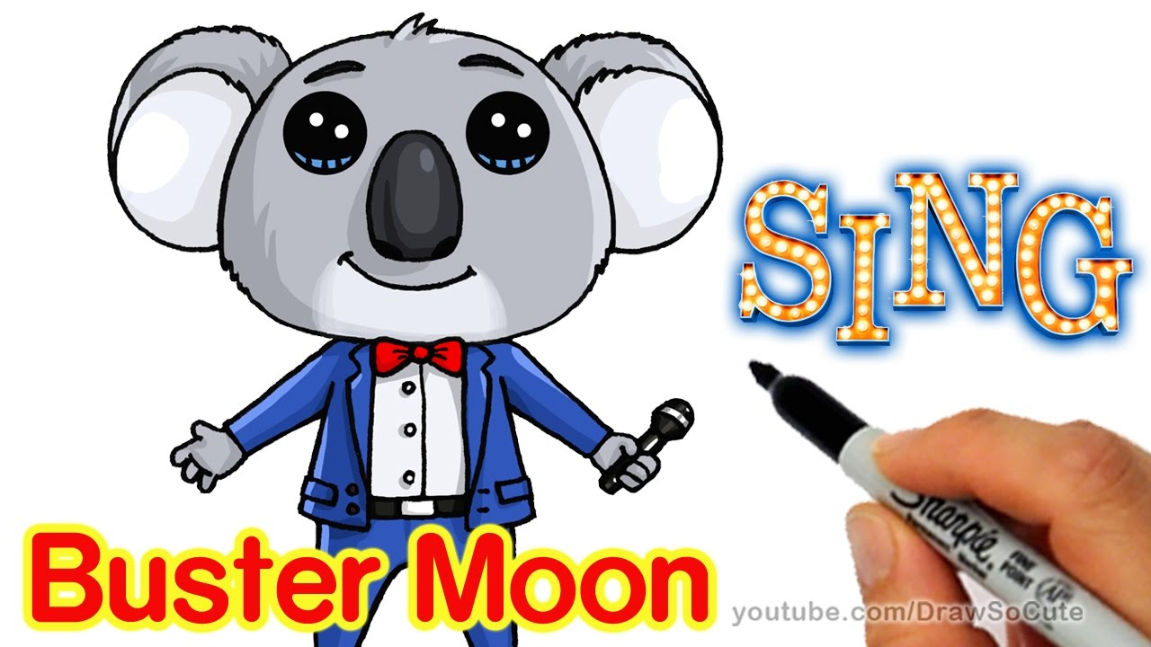How To Draw Buster Moon Koala Cute Step By Step Sing
