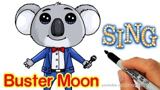 How to Draw Buster Moon Koala cute step by step - Sing Movie