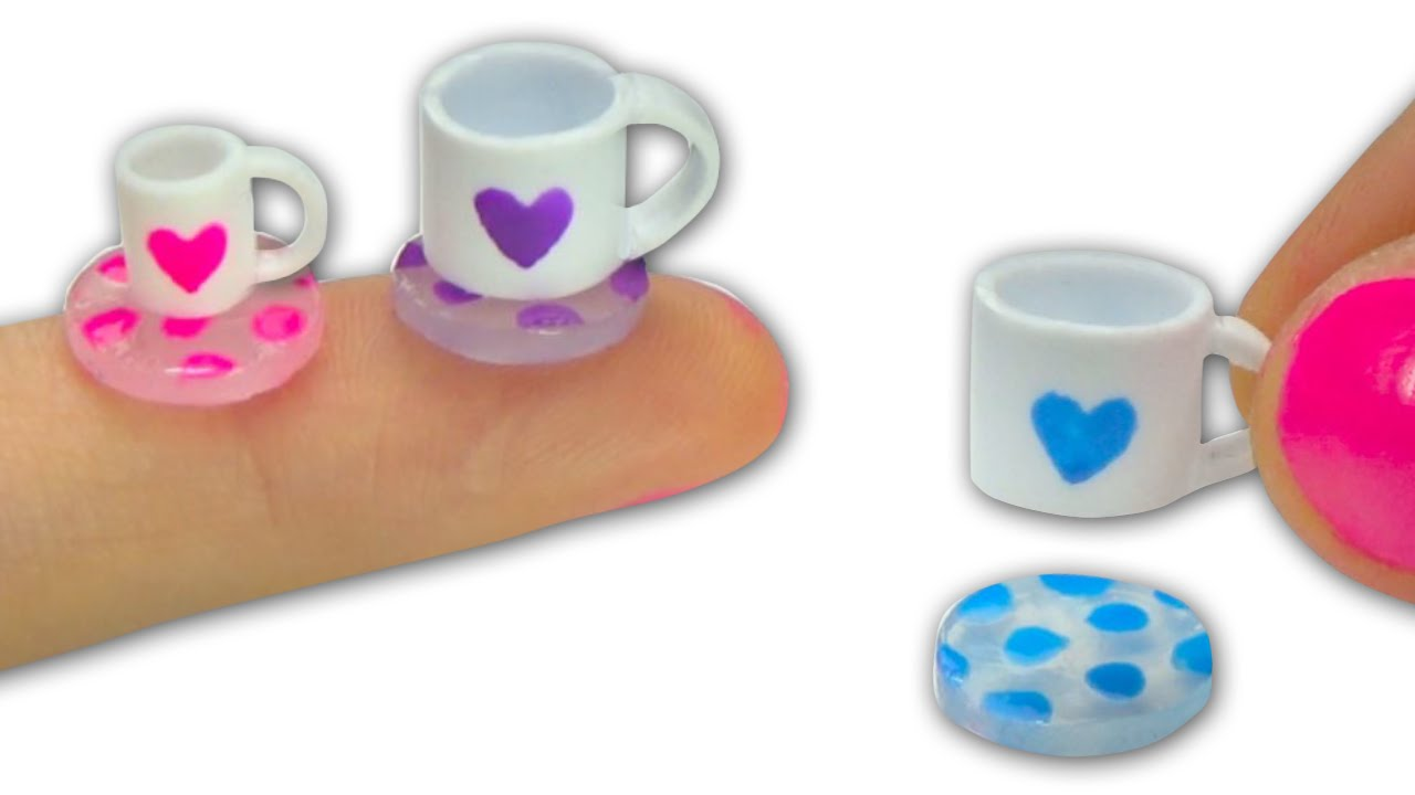 Miniature Doll Tea Cups Or Mugs Can Be Filled And Glass