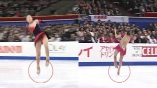ISU Pre-rotation NEEDS ATTENTION. 2007 World Championship.  김연아 Yuna and Mao