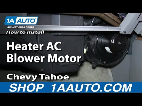 how to replace heater blower motor with fan cage 95-96 chevy tahoe - youtube