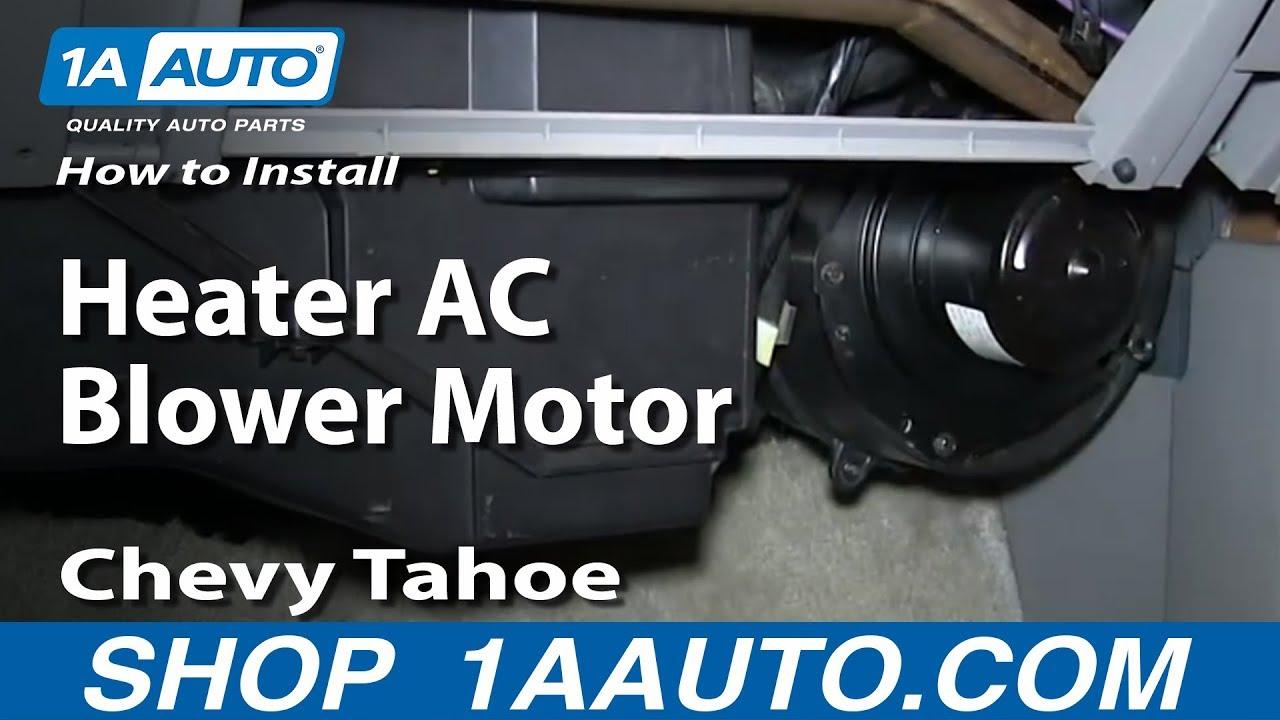 how to install replace heater ac blower motor 1996 99 chevy tahoe rh youtube com