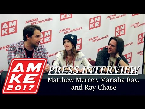 Matthew Mercer, Marisha Ray, and Ray Chase Press Interview - Anime Milwaukee 2017