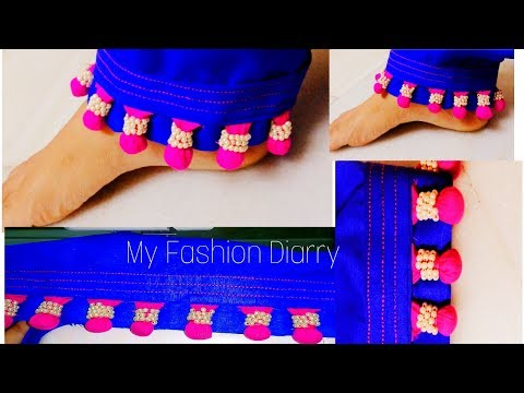 Stylish pouncha|| creative look to ur simple salwar / pouncha || DIY