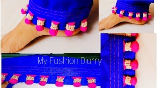 Stylish pouncha|| creative look to ur simple salwar / pouncha || DIY