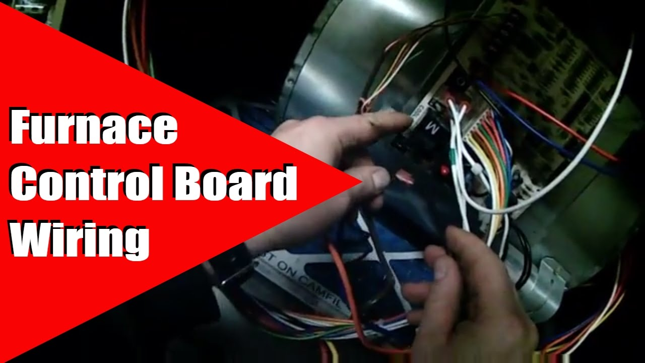 hvac wiring diagram thermostat hunter pro c furnace control board youtube
