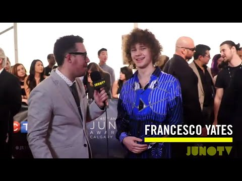 Francesco Yates on The 2016 JUNO Awards Red Carpet