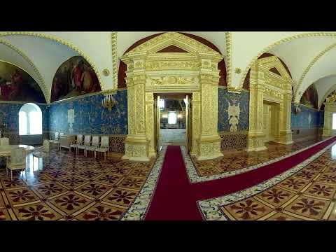 Take a 360 tour of Kremlin Grand Palace which hosted Vladimir Putin's inauguration