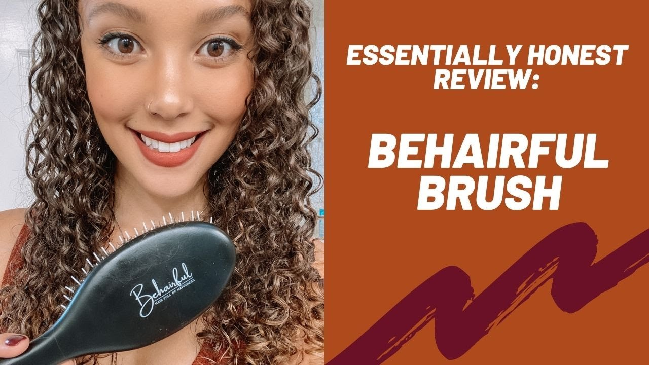 Behairful Curly Hair Brush Review Essentially Honest Review Youtube
