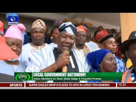 Local Govt. Workers Protest In Osun, Demand Autonomy |News Across Nigeria|