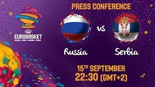 Russia v Serbia - Press Conference - FIBA EuroBasket 2017 thumbnail