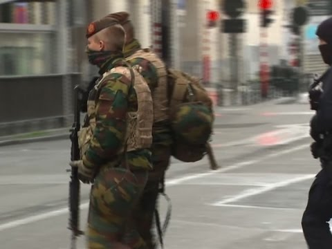 Raw: Security on High Alert on Brussels Streets