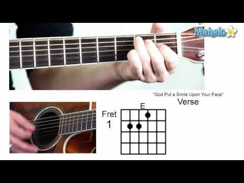 """How to Play """"God Put a Smile Upon Your Face"""" by Coldplay on Guitar"""