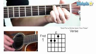 "How to Play ""God Put a Smile Upon Your Face"" by Coldplay on Guitar"