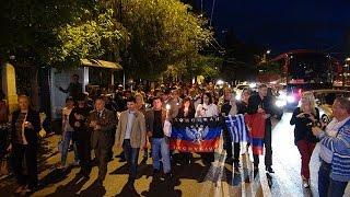 Молебен и митинг  в память о погибших  в Одессе  прошел в Афинах