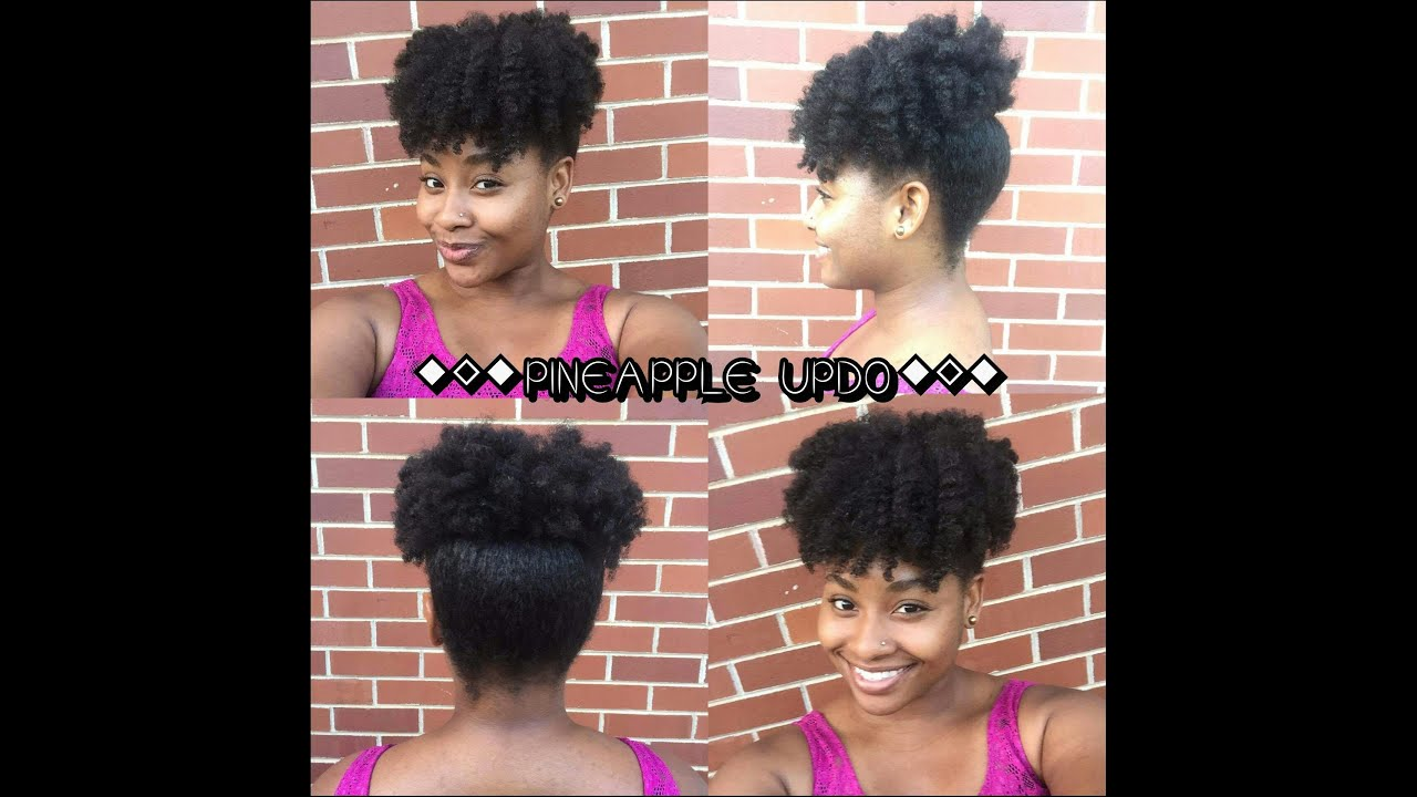 quick & easy natural hairstyles: pineapple puff updo | 4c hair (as