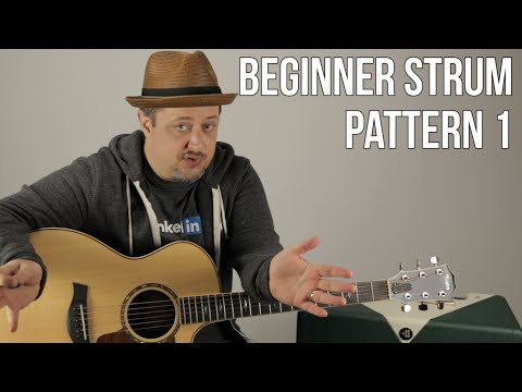 Beginner Strumming Patterns For Acoustic Guitar Pattern 1  Beginner Guitar Lessons