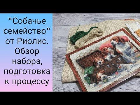 Собаки вышивка риолис