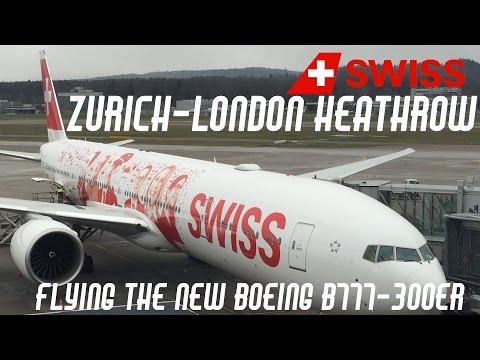 Flying the SWISS Boeing B777-300ER | Zurich to London Heathrow full trip video