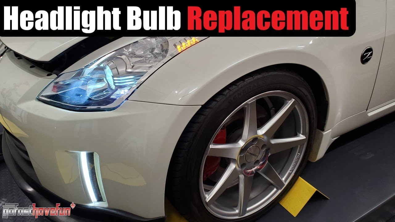 Nissan 350Z Headlight bulb replacement factory HID (2006