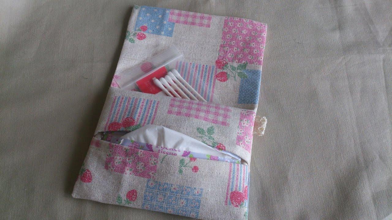 ふた付きポケットティッシュケースの作り方 ティッシュケース ポケットティッシュケース 作り方 財布の作り方