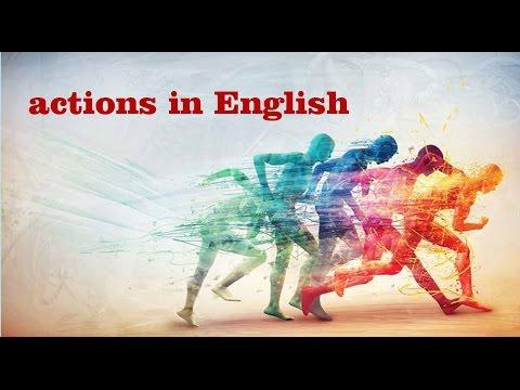Английский для детей. Слова-действия на английском в картинках.
