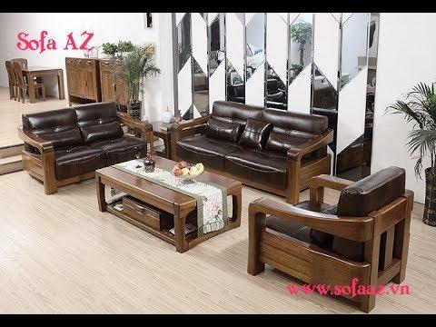 Sofa Gỗ Hiện đại Lot Nệm Mẫu Ban Ghế Phong Khach đẹp Nhất Phần 2