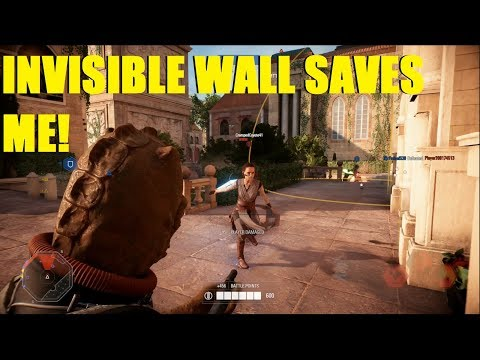 Star Wars Battlefront 2 - Invisible wall saves Bossk killstreak! Sometimes Luck works in my favor XD