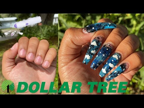 13$ ACRYLIC NAILS AT HOME ALL PRODUCTS DRILL, ACRYLIC, ETC From DOLLAR STORE - *NOT CLICKBAIT*