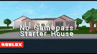 Roblox Bloxburg - 20K No Gamepass Starter House
