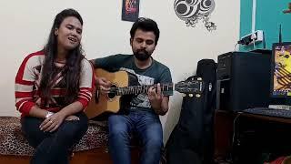 Jamming with Friend   Pyar Ka Pehla Khat   Acoustic cover ft. Anuradha