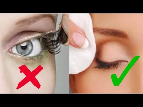 How to take fake eyelashes off with baby oil
