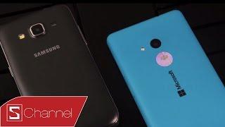 Schannel - Mua smartphone giá rẻ nào Galaxy Core Prime hay Lumia 535 : Thiết kế, màn hình...- P1